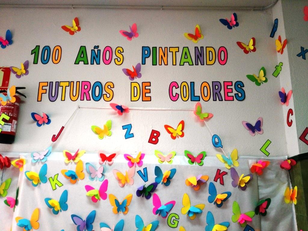 Decoracion para poesia de aniversario de colegio 100 a 241 for Decoracion escuela